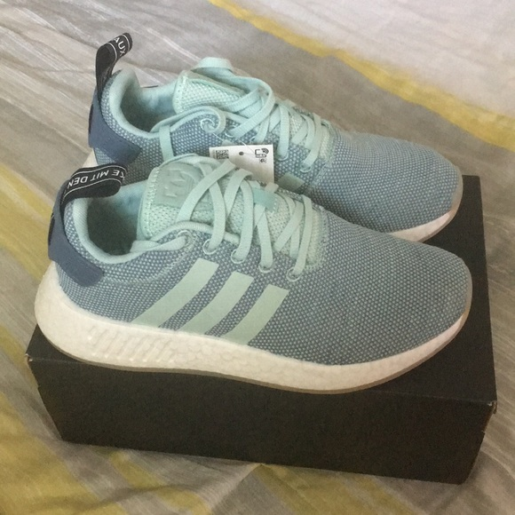 cf38d3df7041e Adidas Originals NMD R2 in White and Ash Green